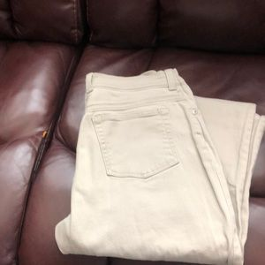 Gloria Vanderbilt sand colored jeans